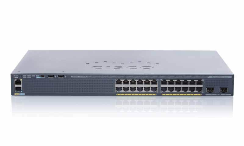 سوئیچ شبکه سیسکو 24 پورت WS-C2960X-24TD-L