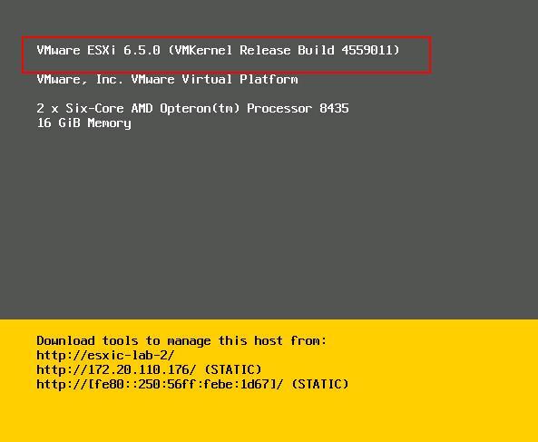 دانلود ESXi 6.5 برای سرور hp