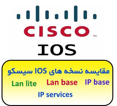 مقایسه نسخه های IOS سیسکو