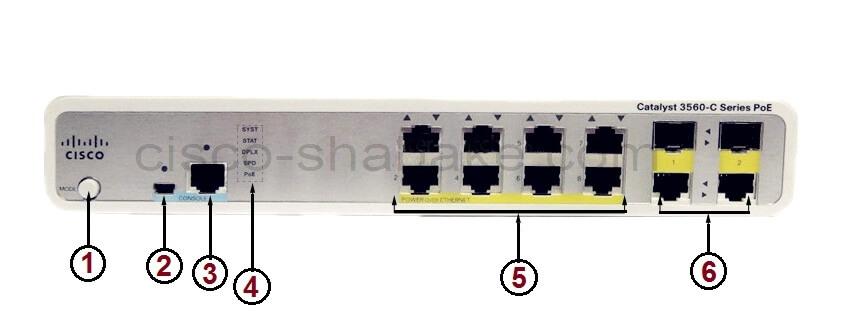 مشخصات سیسکو WS-C3560C-8PC-S